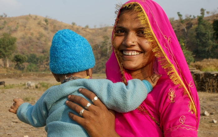 Village woman with baby